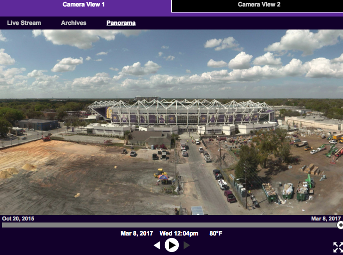 Orlando City Stadium Construction Timelapse