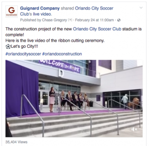 Orlando city soccer ribbon cutting